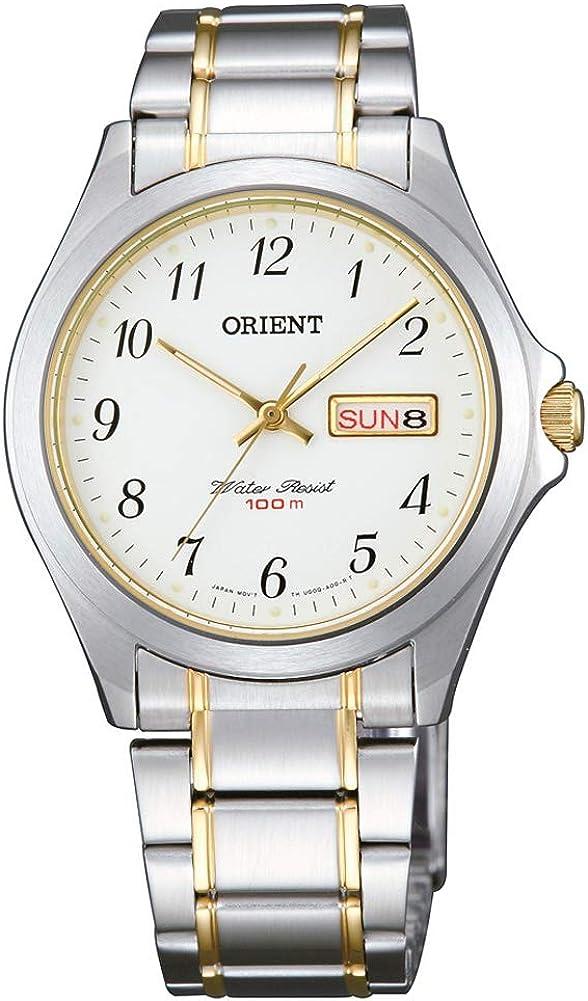 Orient Reloj Analógico para Mujer de Cuarzo con Correa en Acero Inoxidable FUG0Q003W6