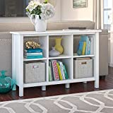 Broadview 6 Cube Storage Bookcase in Pure White