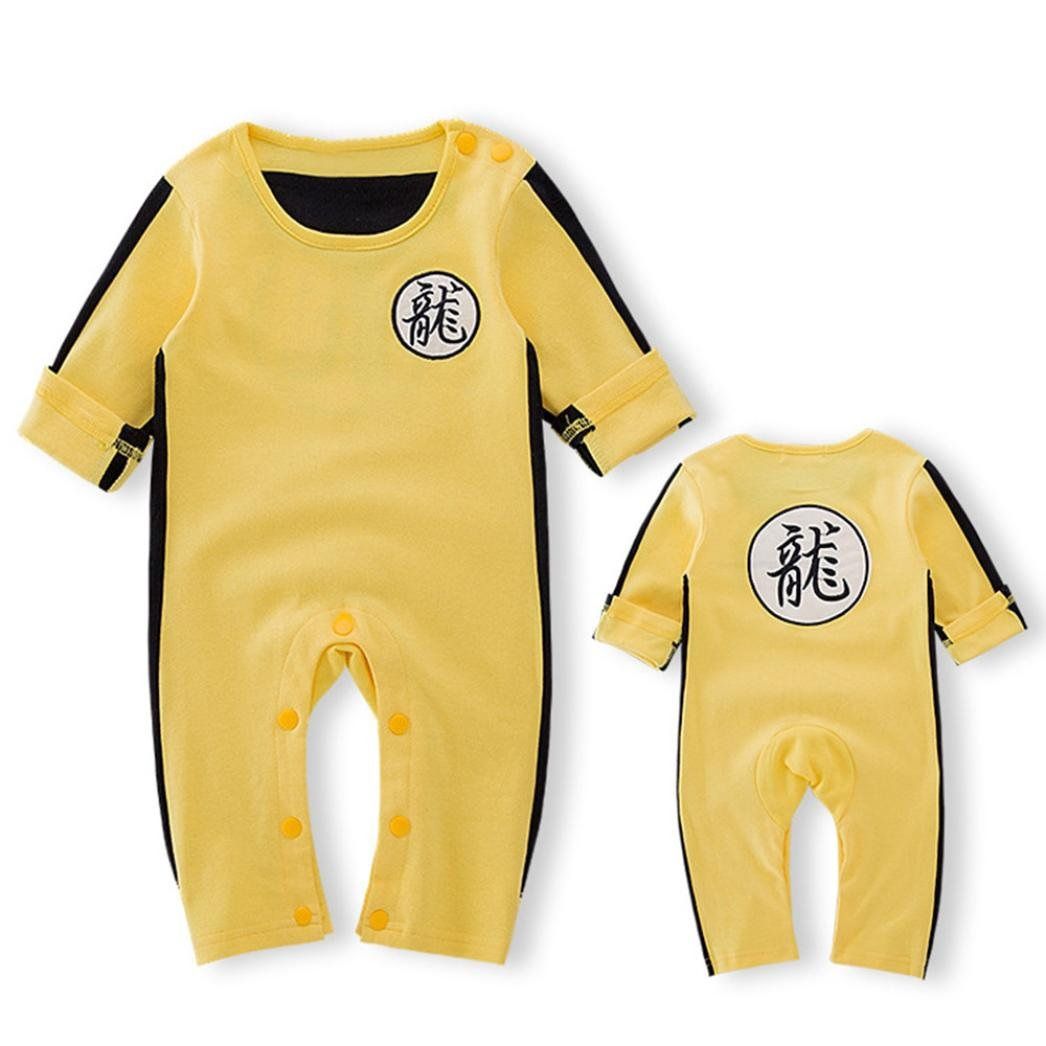 Kingko Newborn Baby Boy Girl Clothing Set Jackie Chan Koingfu Sport Tops Pants Legging Outfits Clothes 2PCS Set