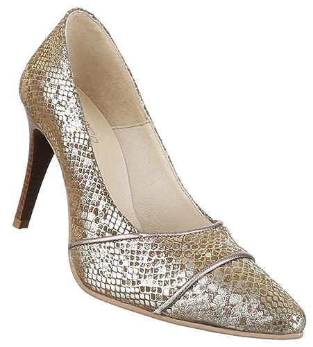 Damen Schuhe Pumps Leder High Heels