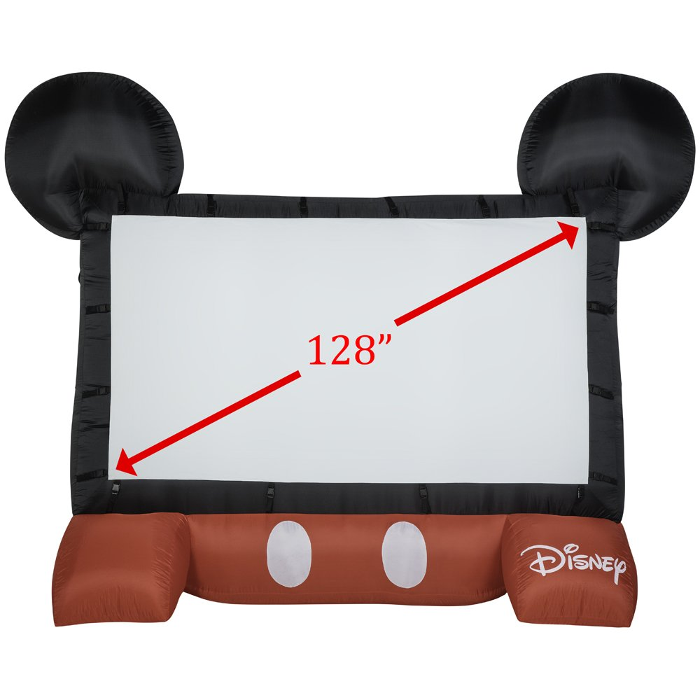 Gemmy 39117-32 Airblown Mickey Movie Screen the Original Inflatable 3911-32, Disney 128''