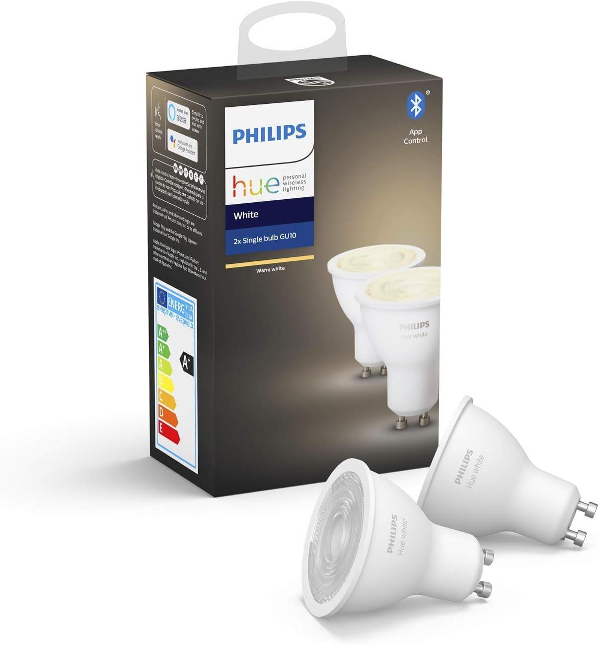 Philips Hue White GU10 LED Lampe Doppelpack - GU10 LED