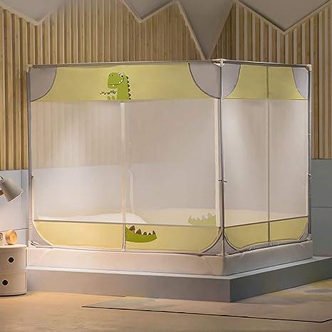 BDTOT Mosquitera Mosquito Doble Cama Refuerzo Anticaída Infantil Niño Engrosado Princesa Viento 1.5 Metros Dibujos Animados Hogar 1.2 Accesorios Dormitorio de Niñas de Instalación Rápida: Amazon.es: Hogar