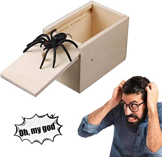 leegoal Araña Broma Caja, araña ratón Broma susto Caja Madera Sorpresa Caja Original araña Broma Caja Madera Caja Juguete Broma, Caja de Regalo Divertida Sorpresa Juguete: Amazon.es: Hogar
