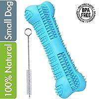 MG+ Cepillo de Dientes para Perros Dog Brushing Stick Limpieza de higiene Dental Cuidado Oral para Mascotas Juguete para Masticar Regalo de Amante de los Animales no tóxica (Small, Azul)