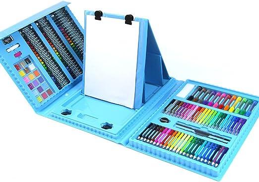 Set de Lapices de Color 176 Piezas - Súper caja de madera de arte, pintura y dibujo