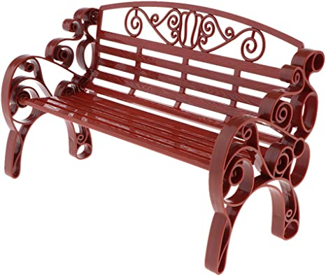 Vintage Miniature Green Garden Bench by Tootsie Toy Dollhouse Furniture ~ 1:24th Scale Miniature Dollhouse Furniture