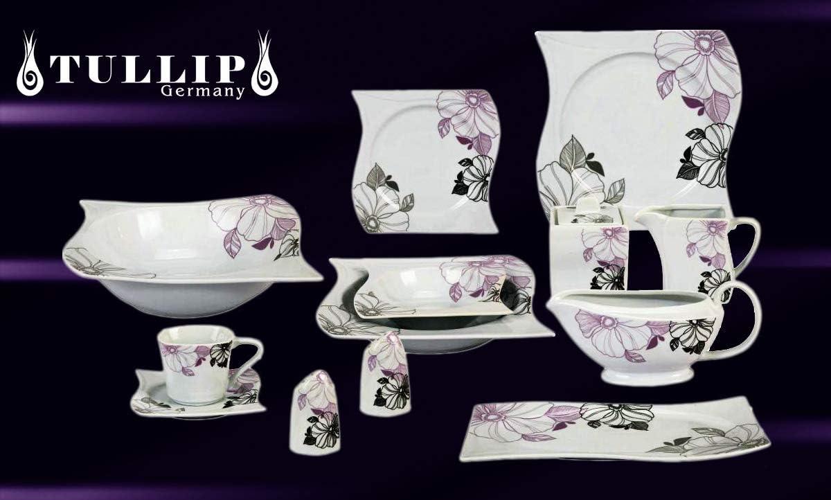 43 - pcs, Alegra 43 PCS Porcelain Dinner Coffee Dishes Dinner Set Plate Service 6 Person