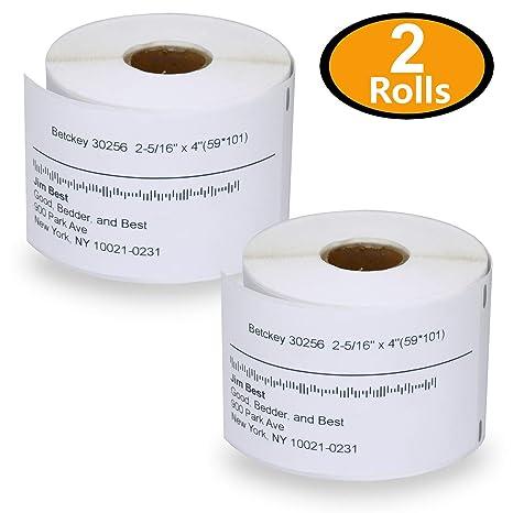 Amazon.com: 2 rollos Dymo 30256 COMPATIBLES 2 – 5/16