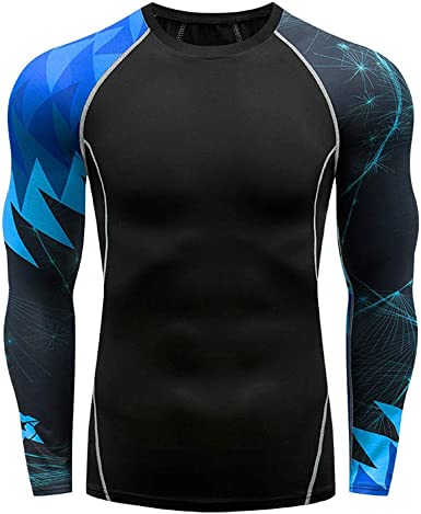 Mens Compression Shirt Short Sleeve T-Shirt Base Layers Stretch Gym Tops Jersey