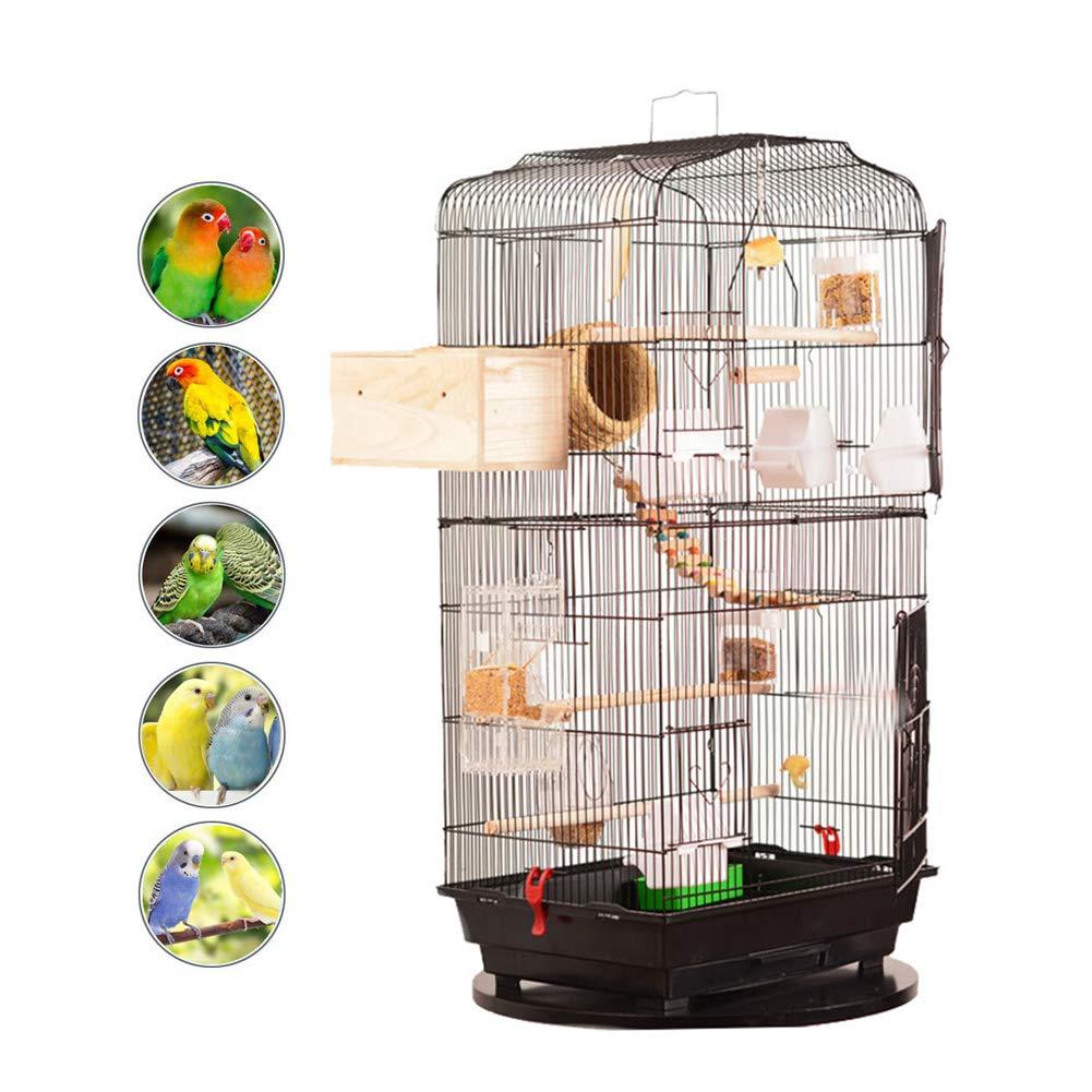Birdcages Metal Flight Bird Cage Parred Cockatiel House Finch Aviary Pet Perch