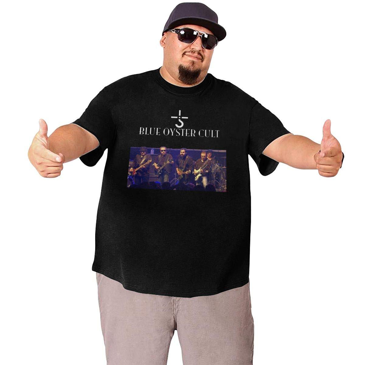TicTicTok Blue Oyster Cult Mens Big Size T-Shirt Black