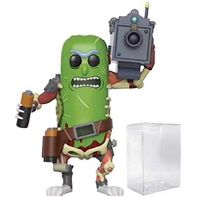 Funko Pop! Animation: Rick and Morty - Pickle Rick with Laser Cannon #332 Vinyl Figure (Bundled with Pop Box Protector Case): Toys & Games