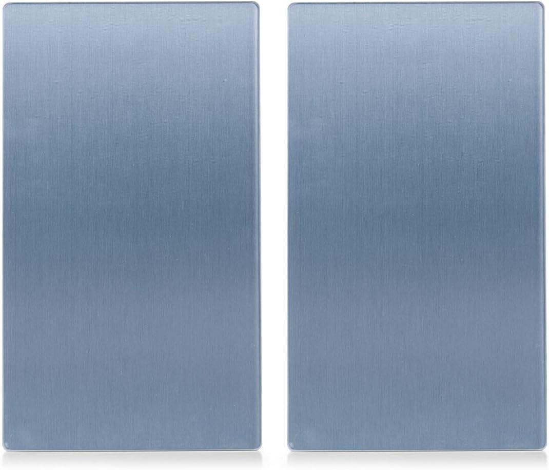 Zeller 26212 - Tabla para cortar de cristal, metal, 52 x 30 cm, 2 unidades