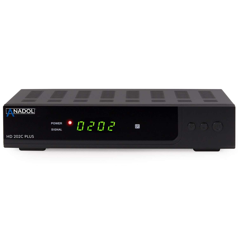 HDTV, DVB-C//C2, HDMI, SCART, Mediaplayer, USB 2.0 schwarz Anadol HD 202c Plus digitaler Full HD 1080p Kabel Receiver HDMI Kabel /& WLAN USB Stick inkl Umstieg Analog auf Digital