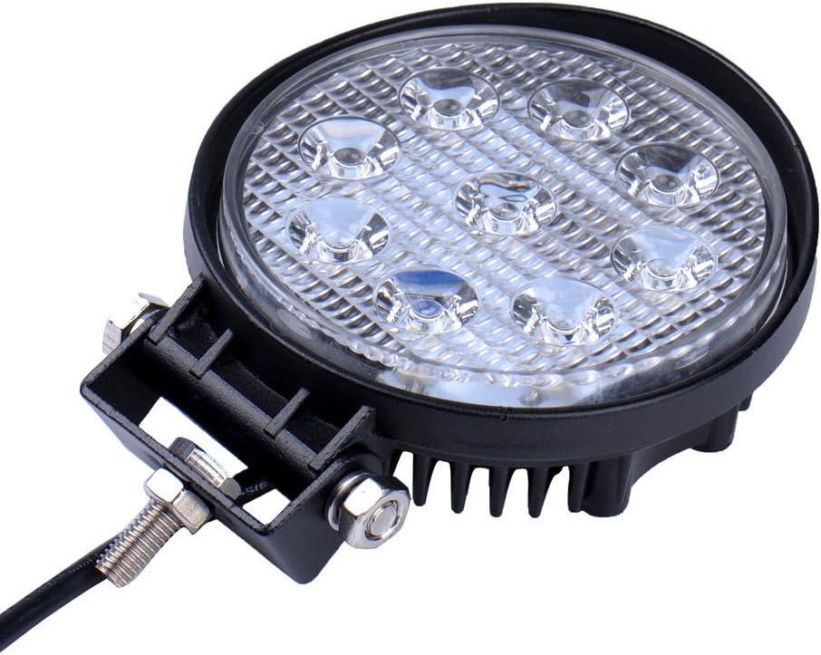 60 Grad Wasserdicht IP67 1560LM Greenmigo 18W Led Scheinwerfer Offroad Lampe Flood Arbeitsscheinwerfer LED Arbeitslicht 12V 24V Zusatzscheinwerfer R/ückfahrscheinwerfer f/ür Traktor Bagger SUV