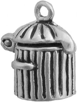 Sterling Silver Girls .8mm Box Chain 3D Tea Set Pendant Necklace