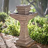 Riley Outdoor Tiered Solar Fountain