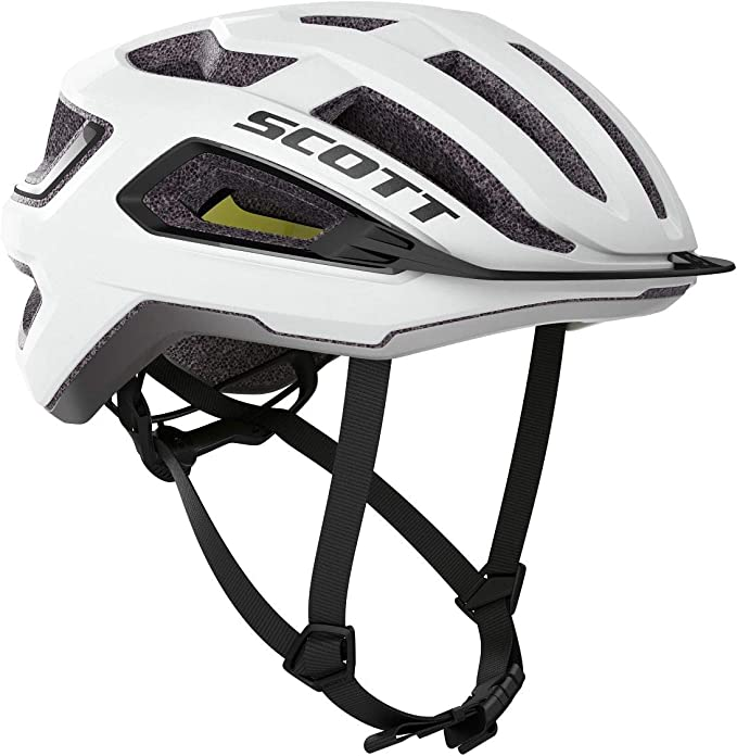 Scott Arx Plus MIPS 2020 - Casco de ciclismo, color blanco y negro ...