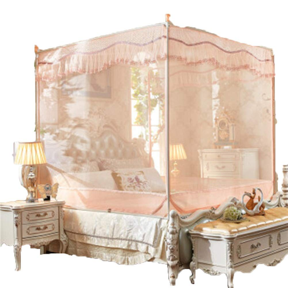 ベッドのカーテンシンプルなベッドのカーテンシンプルなスタイルのカーテン3ドアのカーテンオーバーラップスイッチ蚊帳防虫咬傷厚い暗号化ベッドカーテン GMING (色 : ピンク, サイズ さいず : 1.5*1.9m bed) B07QQX4LDK Jade 1.5*2m bed 1.5*2m bed|Jade