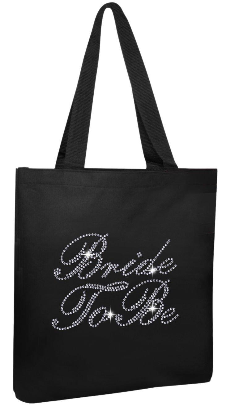 Black Bride To Be Luxury Crystal Bride Tote bag wedding party gift bag Cotton