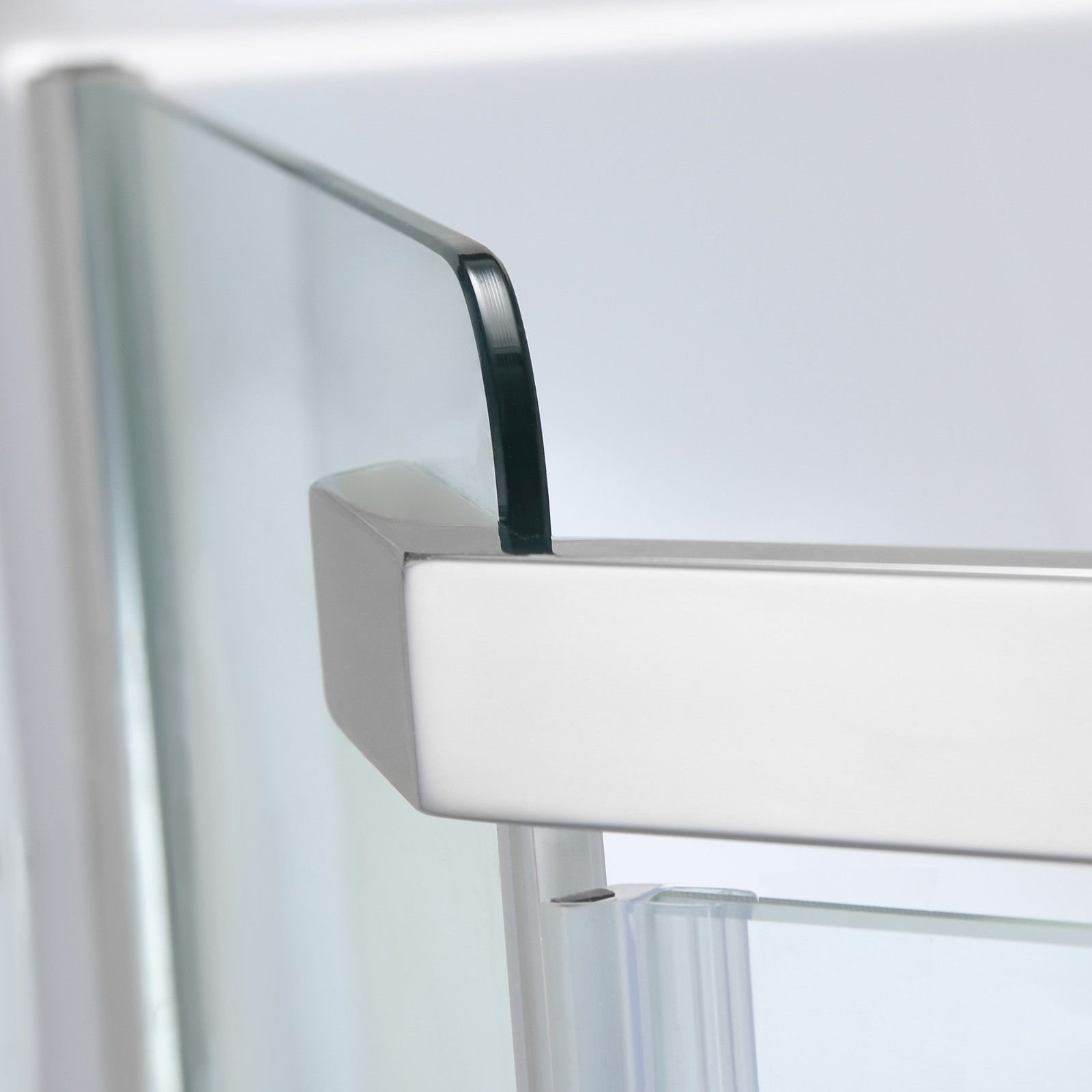 SUNNY SHOWER A33, Semi-frameless Neo-Angle Corner Shower Doors, Fit to 36 3/5'' W x 36 3/5'' D x 71 4/5'' H, 1/4'' Clear Glass, Chrome Finish- Back-wall & Shower Base Sold Separately by SUNNY SHOWER (Image #2)