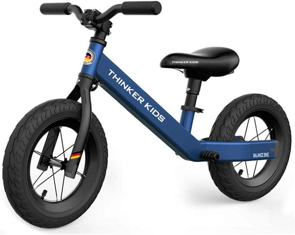 Sin Pedal de Bicicletas, Camino de Formación de Bicicletas, 140-Grado de Dirección límite, Antideslizante Reposapiés de diseño, de 2 3 4 5 6 Años de Edad Niño Niña, Rosa ZHANGKANG
