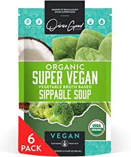 product image for Osso Good - Super Vegan Soup, Plant Based, Made With Organic Veggie Broth, Paleo Certified, Dairy Free & Gluten Free (6 Pack) - Ships Frozen