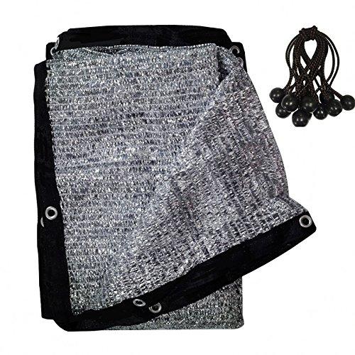 (soclerg 70% Aluminet Shade Cloth Fabric Sun Block Sun Reflect-FREE 12pcs 6