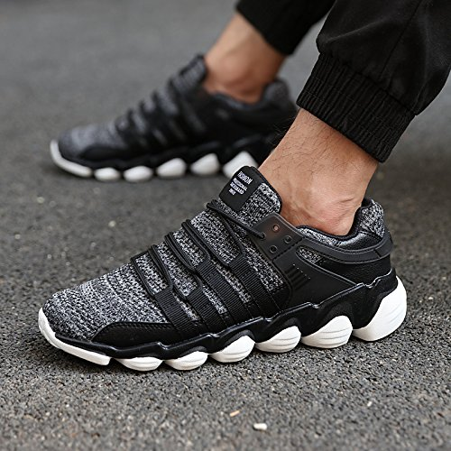 Rembourrage léger pour hommes chaussures de course pour hommes chaussures de plein air confort respirant chaussures de sport Running Hommes adultes Mens White 3TKWE