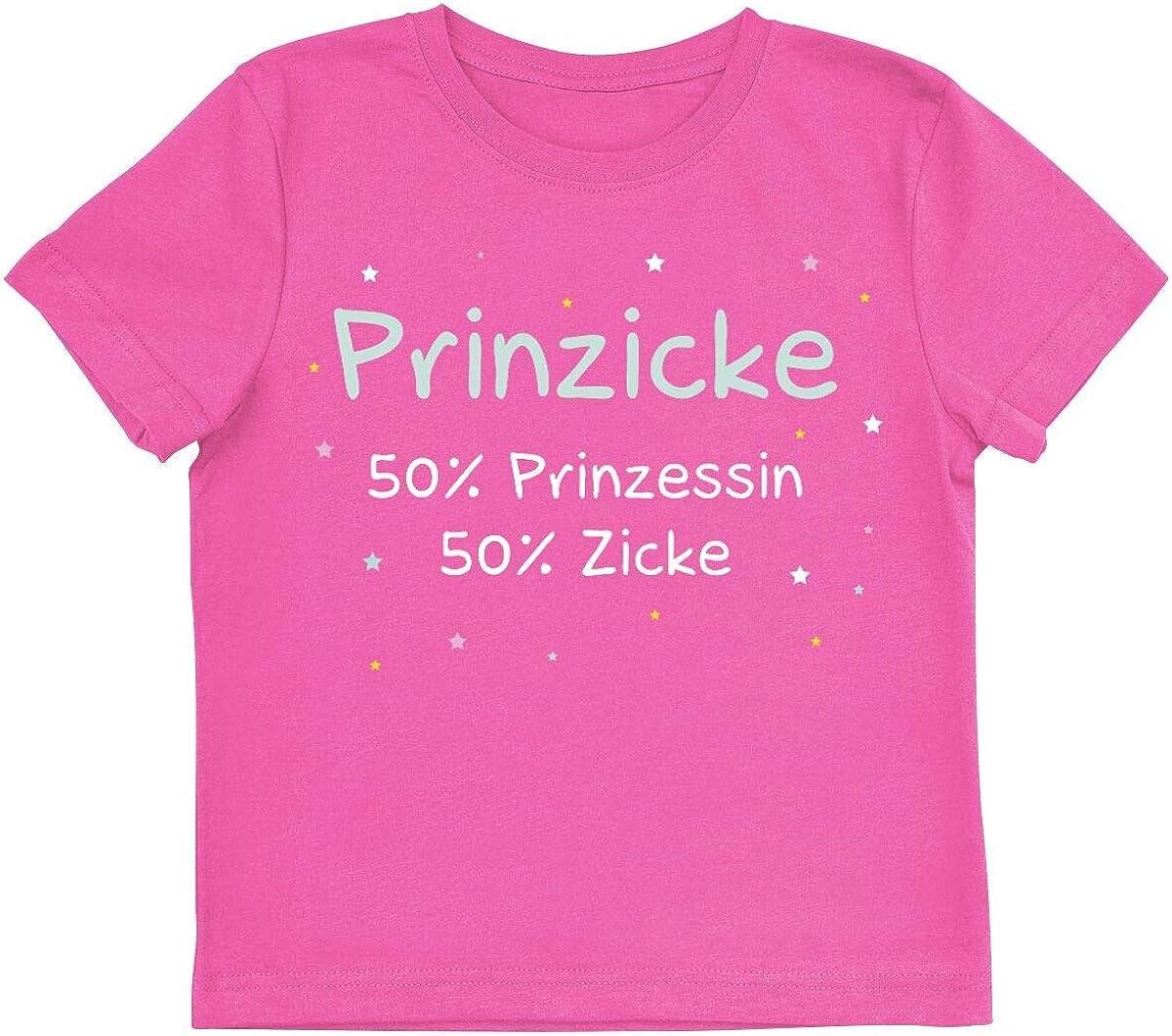 Fun-Merch Familie /& Baby Spr/üche Prinzicke Kinder /& Babies T-Shirt pink
