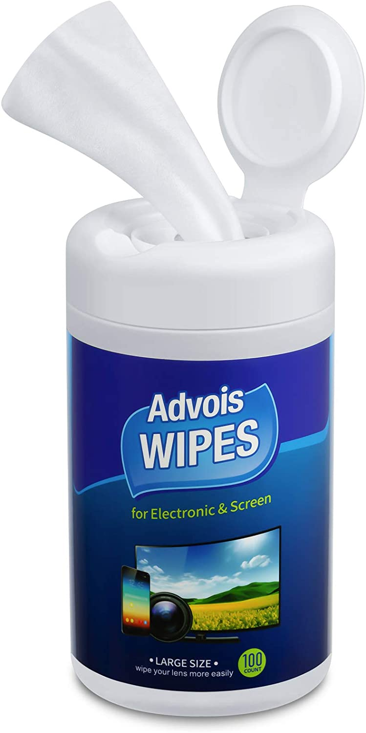 Monitor Wipes, Computer Screen Wipes 100 Electronics Wipes, Computer Monitor Cleaning Wipes,Screen Cleaner Wipes for Laptop, Tablets, Lens, Phones, Eyeglasses,TV, LCD