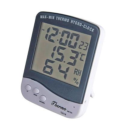 Bellaluee TA218B Termómetro Digital Medidor de Temperatura Digital Pantalla LCD Grande Pantalla de Alta precisión Medidor