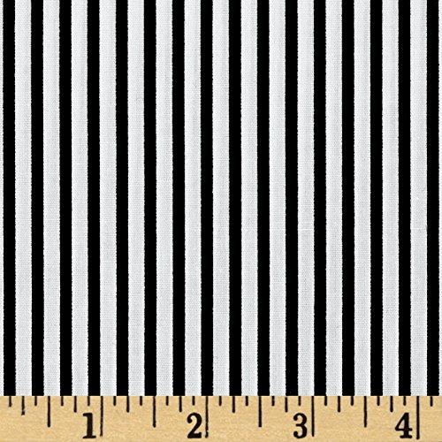 Robert Kaufman Kaufman Sevenberry Petite Basics Mini Stripe Black Fabric by The Yard,