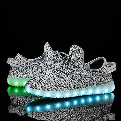 SANYES USB Lade leuchten Schuhe Sport LED Schuhe tanzen Turnschuhe Grey01