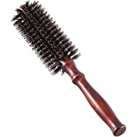 1PCs Boar Bristle Round Brush Round Hair Brush ,Wooden Handle Styling Brush Anti Static ,Small Roller Hair Comb for…