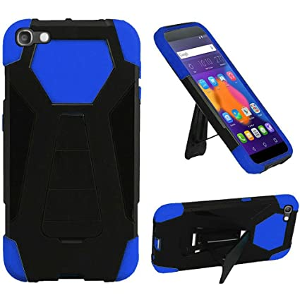 For IDOL 5 Case, Phonelicious ALCATEL IDOL 5 (CRICKET) Heavy Duty [Shock  Proof] [Drop Protection] Hybrid Kickstand Rugged Cover + Screen Protector &