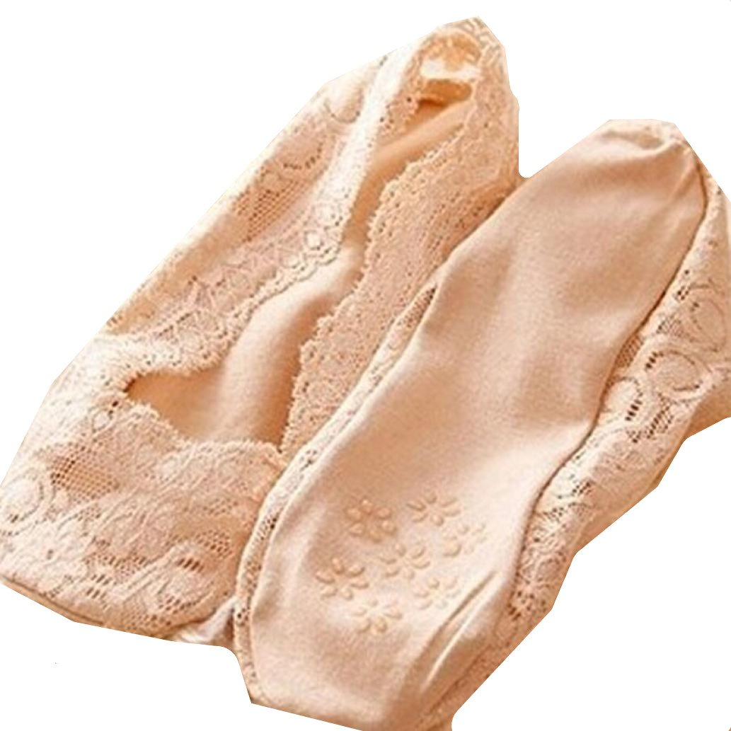 Socks, Manadlian Women Summer Cotton Lace Invisible Ankle Socks Breathable Liner Low Cut Socks (Beige, Free)