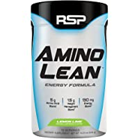 RSP AminoLean - All-in-One Pre Workout, Amino Energy, Weight Loss Supplement with Amino Acids, Complete Preworkout Energy & Natural Fat Burner for Men & Women, Lemon Lime, 70 Servings
