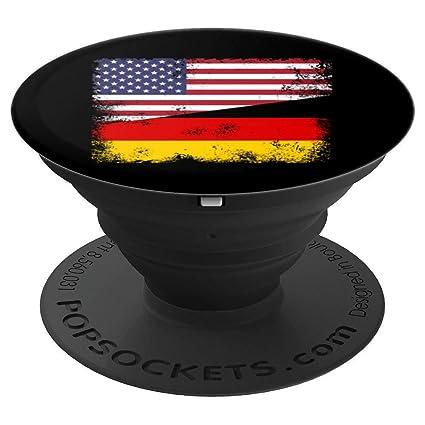Amazon.com: Diseño de media bandera alemana vintage Alemania ...