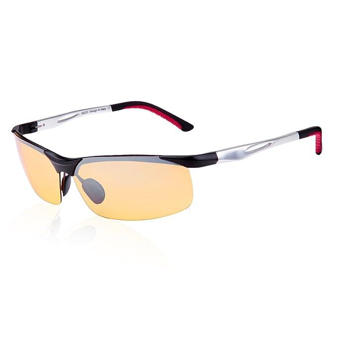Duco Gafas de visión nocturna gafas de conducción anti-brillo gafas de contraste gafas de conducción nocturna polarizadas 2181: Amazon.es: Ropa y accesorios