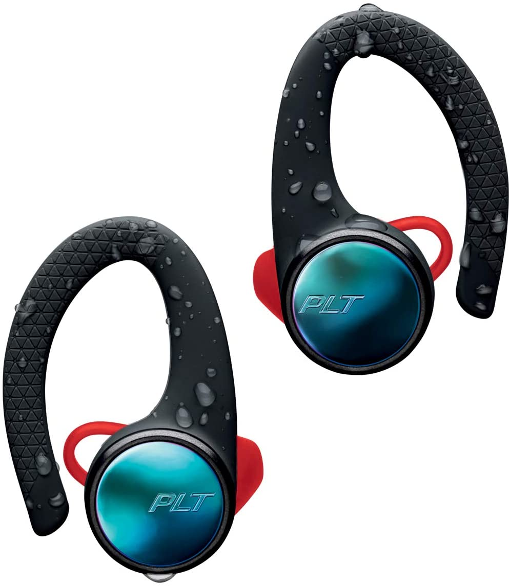 Plantronics BackBeat Fit 3100 Bluetooth Auricular Deportivo, En la Oreja, IP57, con Funda de Carga, Negro, Uni