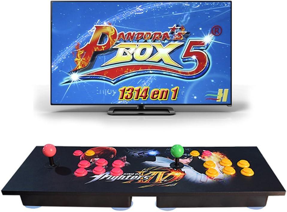 Amazon.es: King Bomb Pandora Box 5 Versión Mejorada Arcade Game Console 1314 en 1 TV Video Game Kit con 2 Joystick Partes de la Fuente de alimentación HDMI y VGA y Salida USB