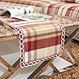 """Product Introduction: Color:As the picture show that Size: Approx.73""""(Length)x14""""(Width) (185*35cm) Materiel: 100% High Quality Natural hessian Burlap and Lace Feature: -This is a gorgeous table runner to suit a country, vintage or shabby chi..."""