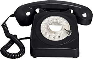 Benotek Telephone, Corded Landline Phones for Home, Retro Old Fashion Home Phone with Rotary Dial Keypad, Antique Old Fashion Telephones Novelty Gift for Decoration