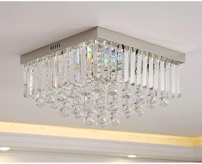 Plafoniere Moderne Con Cristalli : Lampada lampadario plafoniera in cristallo moda