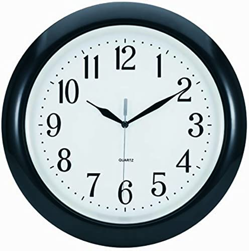 Tempus TC6083B Atomic Wall Clock with Frame Translucent Dial Face and Radio Controlled Movement, 14 , Black