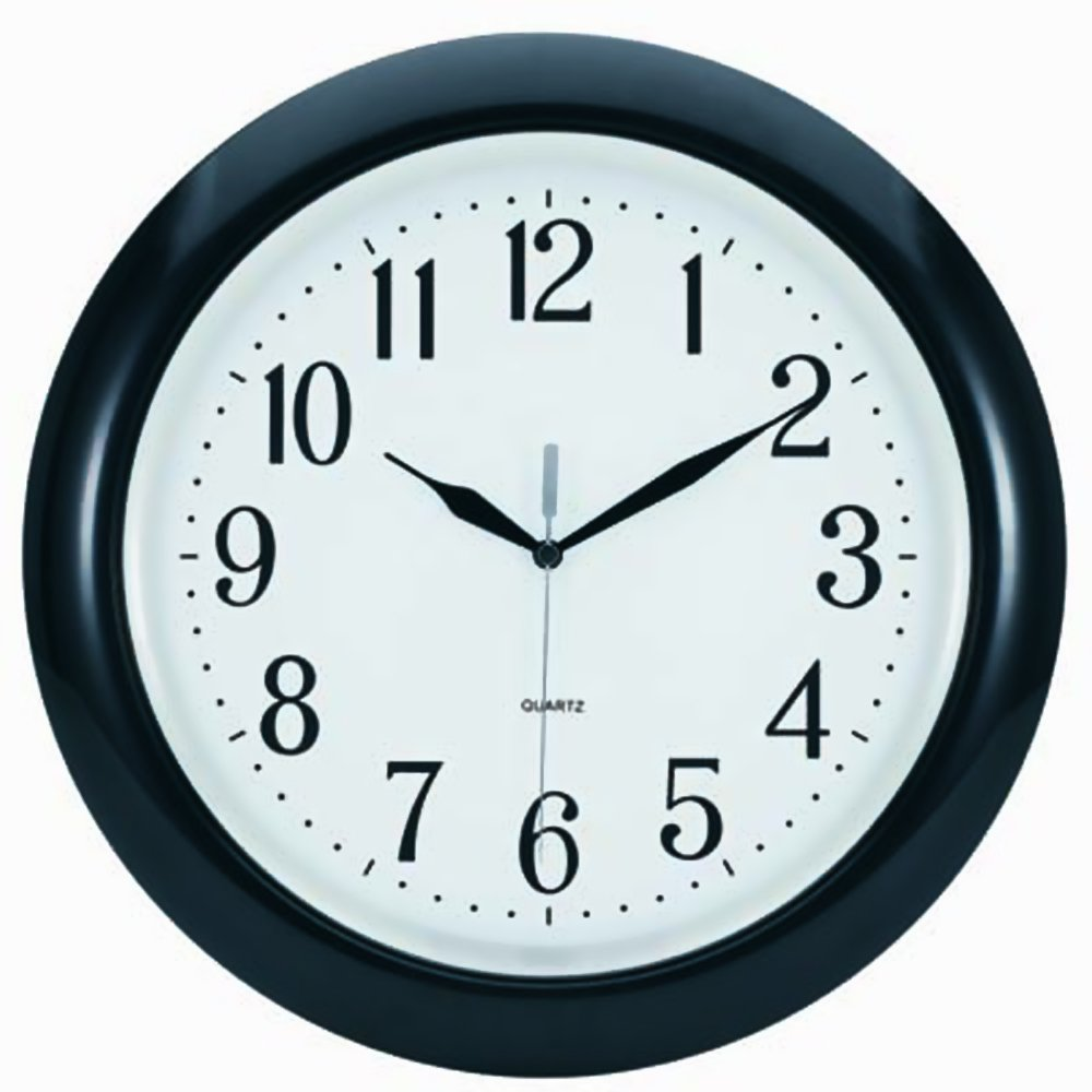 14 Tempus/® TC6083B Atomic Wall Clock with Frame Translucent Dial Face and Radio Controlled Movement Black 14 V-Light