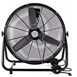 LIKE SHOP High Velocity Rolling Drum Fan 24 Warehouse Cooling Tools Office Shop Fans