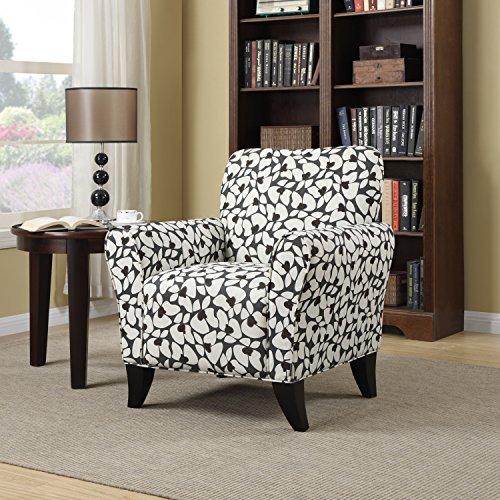 Unique Portfolio Seth Gray Modern Floral Curved Back Arm Chair in Grey